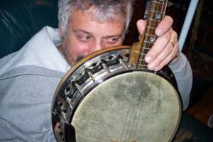 Ned behind banjo